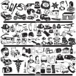 Police firefighter medical profession icons — Stock Vector #61529351
