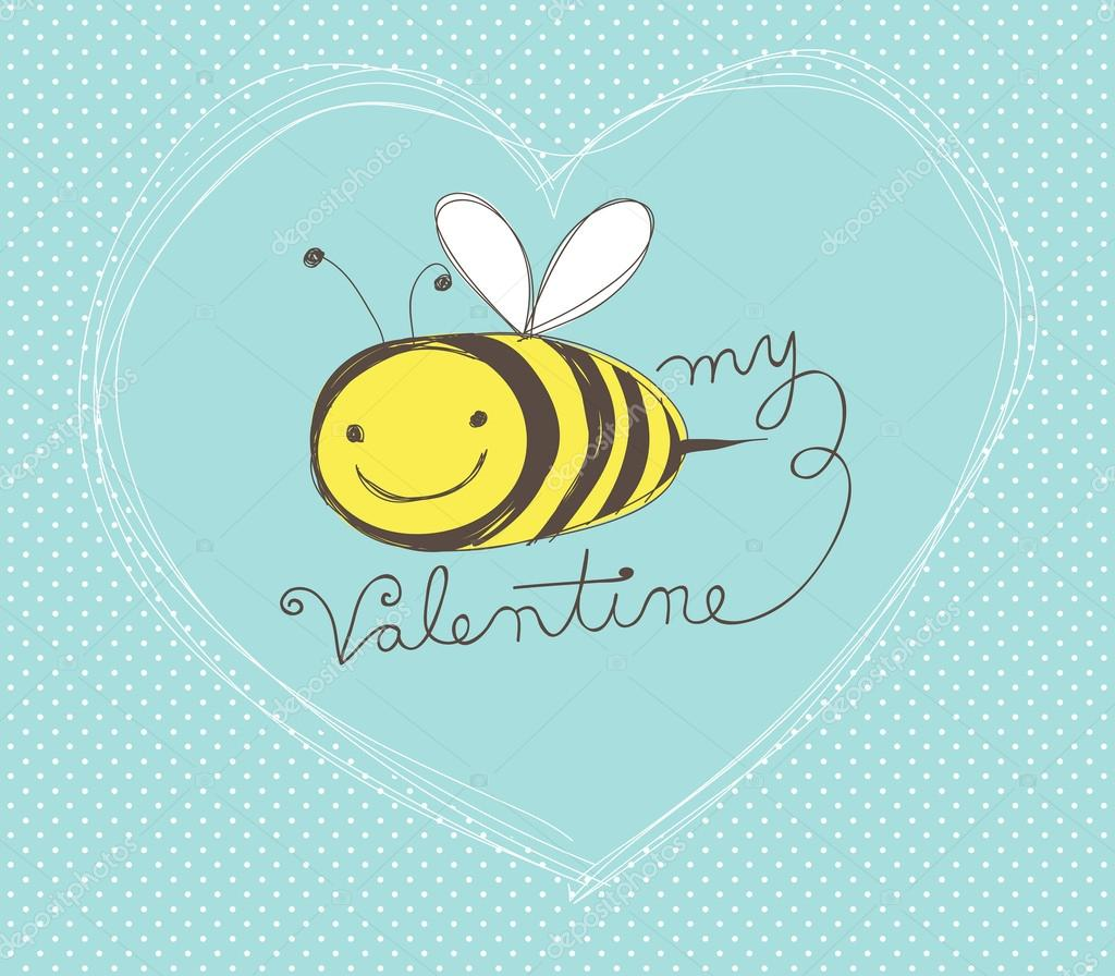 Bee my Valentine card Vector zsooofija 60990235 – Bee My Valentine Card