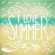 I love Summer doodle — Stock Vector #62799171