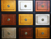 Chest of drawers that are different colors — Stock Photo