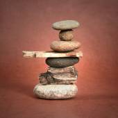 Even rocks balancing on each other — Stock Photo