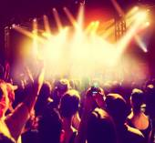 Crowd of people at concert — Stock Photo
