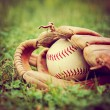 Baseball in old glove — Stock Photo #53624395