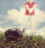Person playing golf — Stockfoto
