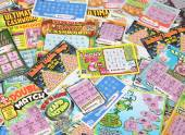 Lottery scratch tickets — Stock Photo