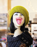 Mannequin laughing — Stock Photo