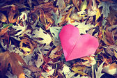 Discarded paper heart — Stock Photo