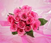 Bunch of pink roses — Stock Photo