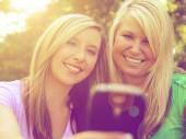 Two friends taking selfie — Stock Photo