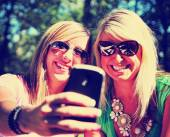 Two friends taking selfie — Stock Photo