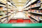 An aisle in grocery store — Stock Photo