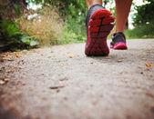 运动的双腿跑 — 图库照片