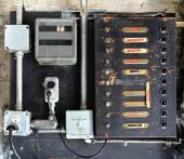 Abandoned electrical breaker box — Stock Photo
