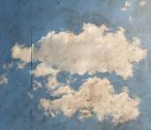 Clouds on a paper overlay — Stock Photo