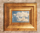 Frame with a cloud — Stock Photo