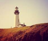Lighthouse on the cliffs — Stock Photo