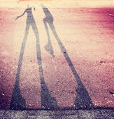 Shadow of two people — Stock Photo