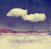 Wall with cloud floating — Stock Photo