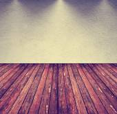 Empty room with wood floor — Stock Photo