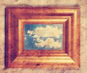 Photo frame with cloud in it — Stockfoto