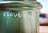 I love you written on lamp post — Stock Photo