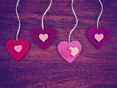 Alla hjärtans dag hjärtan — Stockfoto