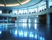 Modern airport interior — Stock Photo