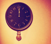 Vintage wall clock — Stock Photo