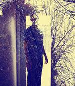 Man in a doorway — Stok fotoğraf