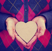 Hands holding valentines day heart — Foto Stock