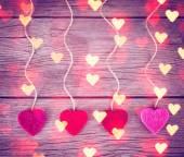 Love valentines hearts — Stock Photo