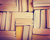 Stack of paperback books — Foto de Stock