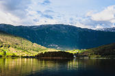 Mountains in village Ulvik in Norway — Stock Photo