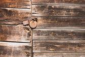 Rusty lock on an old door (horizontal) — Stock Photo