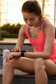 Nošení technologie fitness — Stock fotografie