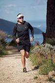 Trail runner exercising for fitness — Stock Photo
