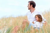 Father and daughter have fun together — Stock Photo