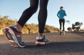 Couple training for marathon — Zdjęcie stockowe
