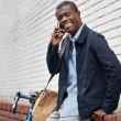 African man with cell phone — Stock Photo #74997383