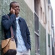 African man with cell phone — Stock Photo #74997667