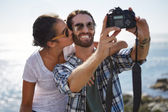 Couple posing on vaction — Stock Photo