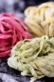 Raw home hand made pasta — Stock Photo