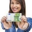 Woman holding some Euro currency notes — Stock Photo #51955169