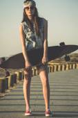 Skater Girl — Stock Photo