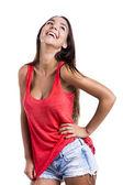Beautiful woman laughing — Stock Photo
