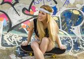 Skater Girl — Stockfoto