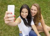 Beautiful and happy students — Stock Photo