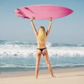 Blode surfer Girl — Stock Photo