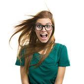 Beautiful girl with Surprised Face — Foto de Stock