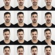 Man in different moods — Stock Photo #67597275